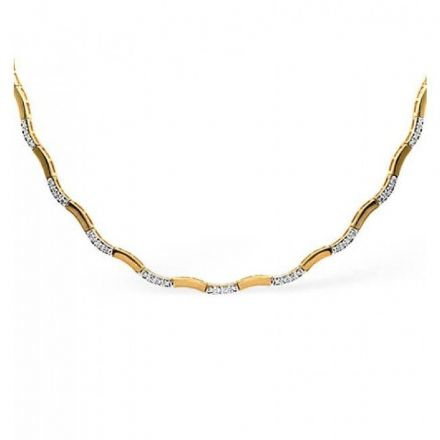 9K Gold 0.55ct Diamond Necklace, B1086